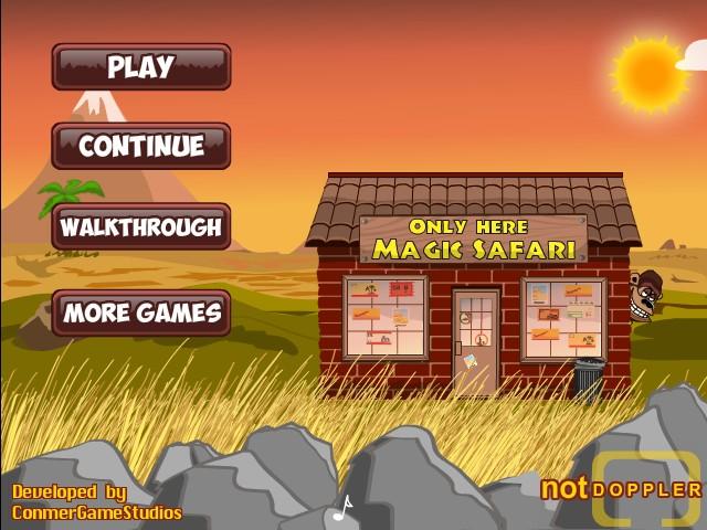 magic safari funny car games