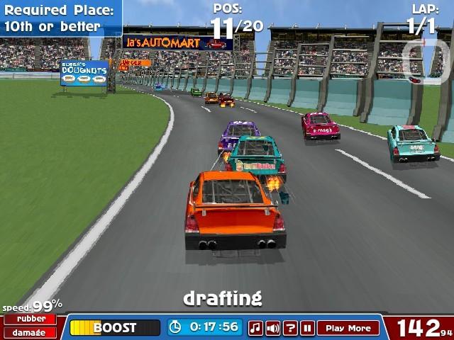 nascar american racing funny car games