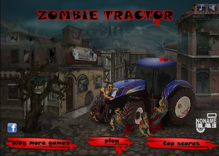 Zombie Tractor Funny Car Games