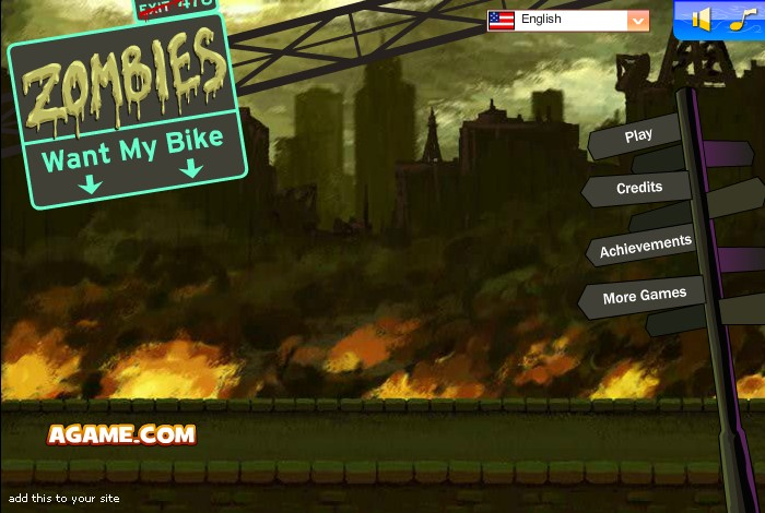zombies want my bike funny car games