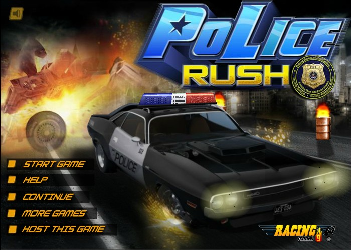 Truck parking games online - Police Rush Funny Car Games