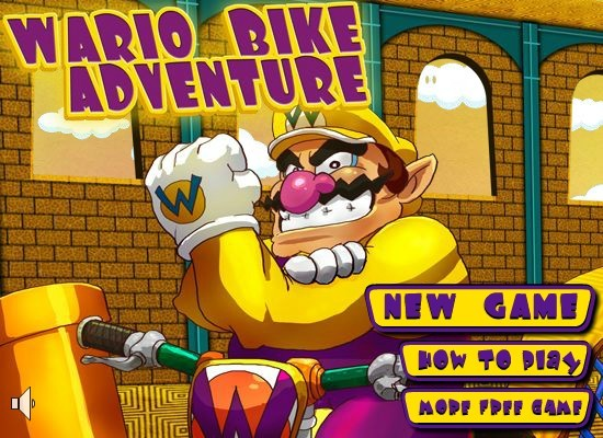 Wario Bike Adventure - Funny Car Games