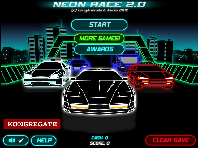 neon car racing games