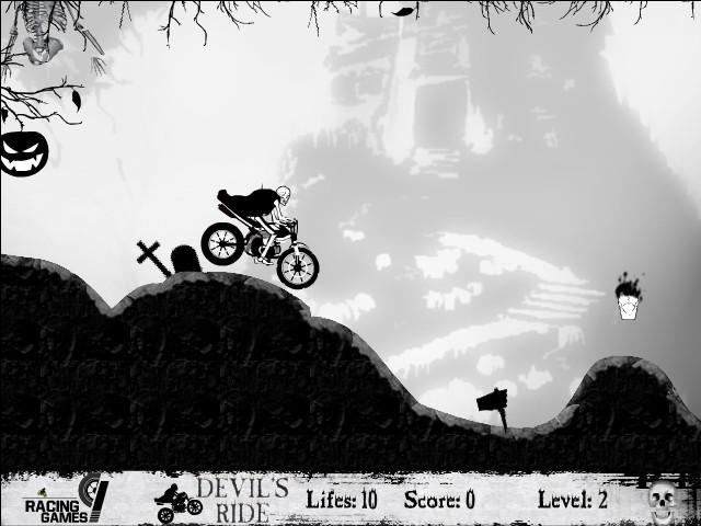 devils ride funny car games