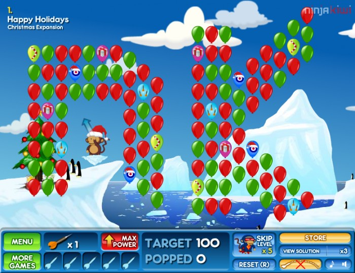 Bloons 2 christmas expansion free online bloons game