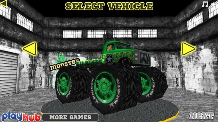 monster race 3d funny car games
