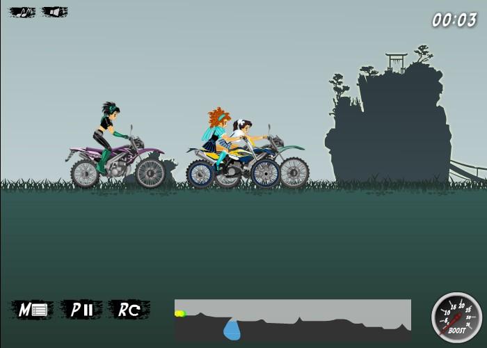 anime motocross funny car games