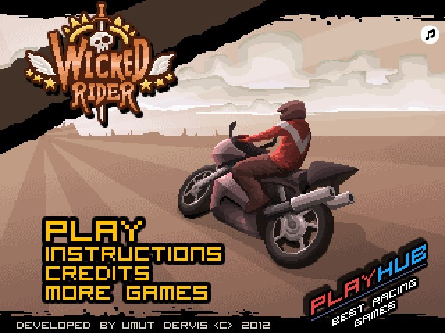 Wicked Rider Game Funny Car Games