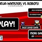 Ninja Hamsters vs Robots Screenshot