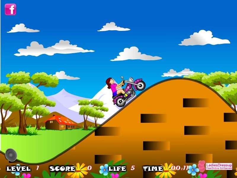 sara bike riding funny car games