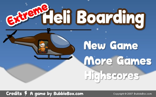 Extreme Heli Boarding Game