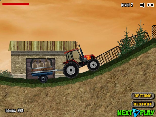 tractor mania funny car games