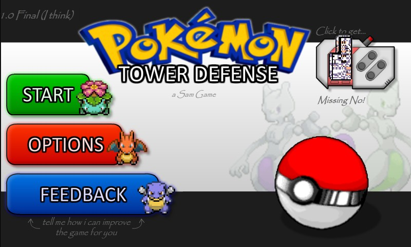 free online games of pokemon td