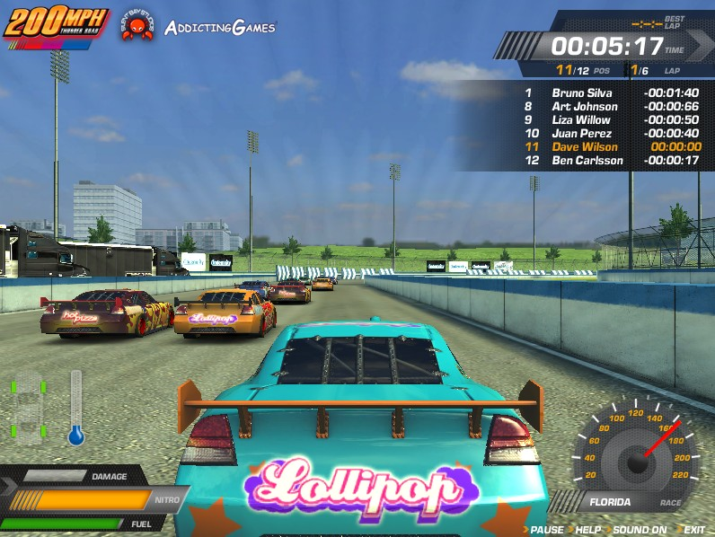 200 mph thunder road game