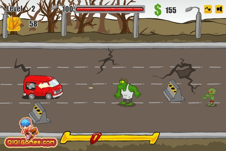 zombie rumble funny car games