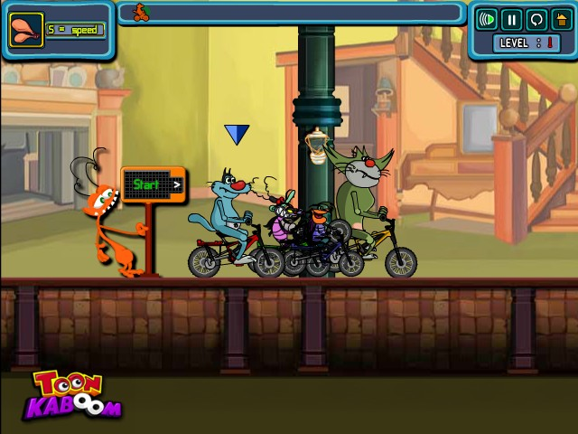 oggy the racer funny car games